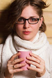Young woman drinking tea Stock Photos