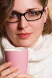 Young woman drinking tea Stock Image