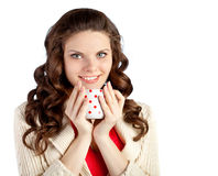 Young woman is drinking tea Royalty Free Stock Photography