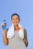 Young woman drinking water Royalty Free Stock Photos