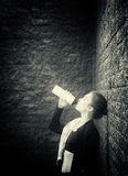 Young woman drinks water after training. Toned Stock Images