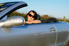 Young woman driving Stock Image