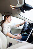 Young, woman driving a car Stock Photo