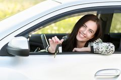 Young woman driving  car Royalty Free Stock Photography