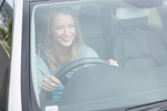 Young woman driving Royalty Free Stock Images