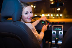 Young woman driving her new car Royalty Free Stock Images