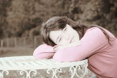 Young  woman duotone effect Royalty Free Stock Photo