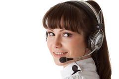 Young woman in earphones Stock Photos