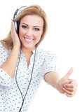 Young woman with earphones Stock Photo
