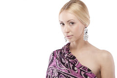 Young woman with earrings Royalty Free Stock Photos