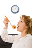 Young woman eating Stock Photo