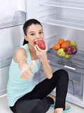 Young woman eating apple Royalty Free Stock Photo
