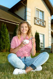 Young woman eating cereals Stock Photography