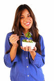 Young woman eating salad Royalty Free Stock Photo