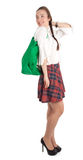 Young woman with ecological shopping bag Stock Photo