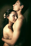Young woman in embraces of her man Stock Photography