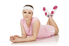 Young woman is engaged fitness Stock Photography