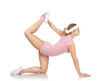 Young woman is engaged fitness Stock Photo