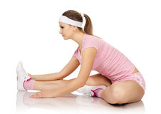 Young woman is engaged fitness Royalty Free Stock Image