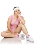 Young woman is engaged fitness Royalty Free Stock Images