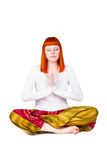 Young woman is engaged in yoga Stock Photography
