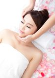 Young woman enjoy massage at spa Royalty Free Stock Images