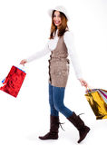 Young woman enjoyed shopping Stock Photo