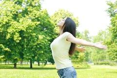 Young woman enjoying Stock Image