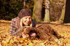 Young woman enjoying autumn Royalty Free Stock Image
