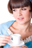Young woman enjoying a cup of coffee Royalty Free Stock Photography
