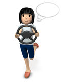 A young woman enjoying driving. Royalty Free Stock Photo