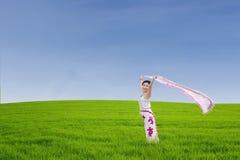 Young woman enjoying fresh air Stock Image