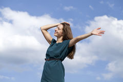 Young woman enjoying life Royalty Free Stock Photography