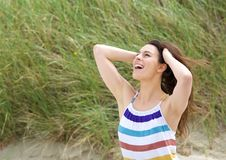 Young woman enjoying life Royalty Free Stock Photo