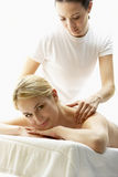 Young Woman Enjoying Massage Stock Photos