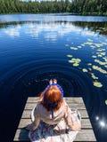 Young woman enjoying nature Stock Images