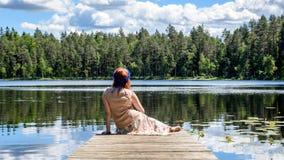 Young woman enjoying nature Stock Photos
