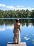 Young woman enjoying nature Stock Image