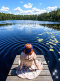 Young woman enjoying nature Royalty Free Stock Image