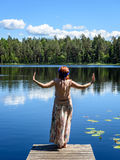 Young woman enjoying nature Royalty Free Stock Images