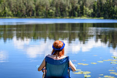 Young woman enjoying nature Royalty Free Stock Photo