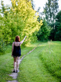 Young woman enjoying nature Stock Photography