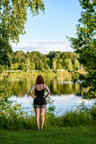 Young woman enjoying nature Stock Photos