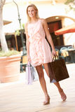 Young Woman Enjoying Shopping Stock Photos