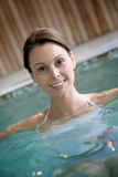 Young woman enjoying spa Royalty Free Stock Images