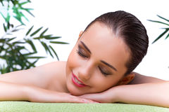 The young woman enjoying spa treatment Royalty Free Stock Photography