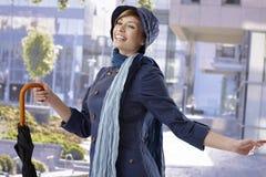 Young woman enjoying spring sunshine Royalty Free Stock Photos