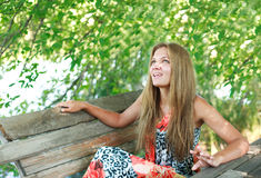 Young woman enjoying a summer day Royalty Free Stock Photography