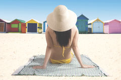 Young woman enjoying a summer holiday Stock Image