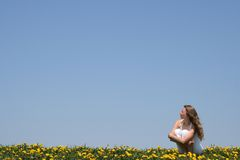 Young woman enjoying sun Stock Photography